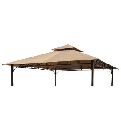 International Caravan Mesa 10 ft. 2-Tiered Vented Outdoor Gazebo Canopy Replacement Top by International Caravan