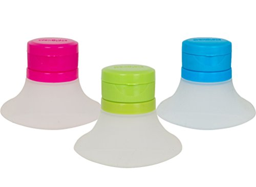Evriholder D2G-3PK-AMZ Dressing Container, 3pk, Green and Blue, 3 ()