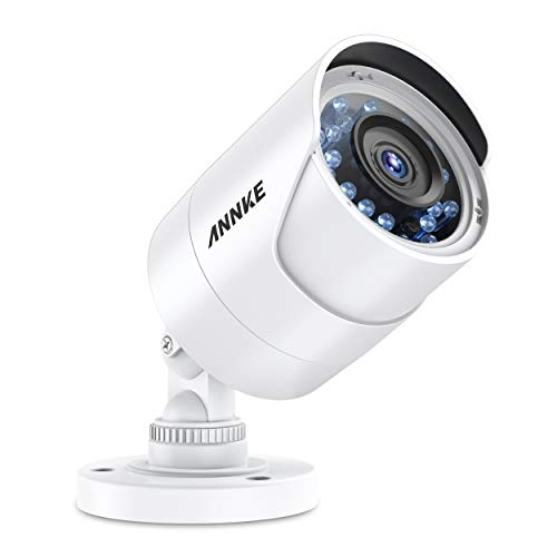 ANNKE Security Camera HD Bullet Cam, 66ft Clear Night Vision, 3D DNR, Motion Detection, IP66 Weatherproof for Outdoor Indoor Home Surveillance