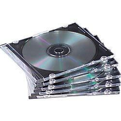 Fellowes Slim Jewel Cases - 50 Pack - Jewel CasePlastic, Polystyrene - Clear, Black - 1 CD/DVD ()