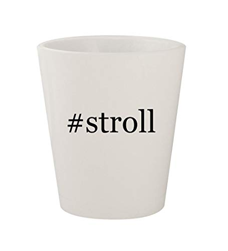 #stroll - Ceramic White Hashtag 1.5oz Shot Glass