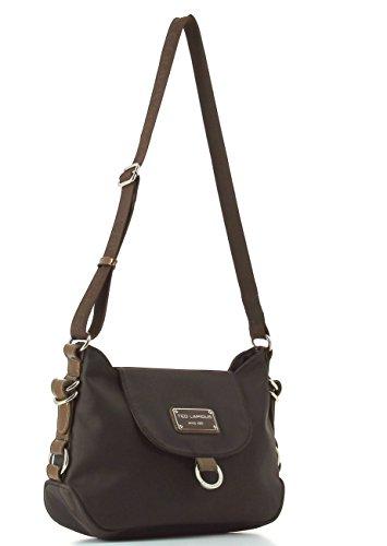 Ted Lapidus - Bolso estilo cartera para mujer marrón marrón 36 (L) x 20 (H) x 11 (E) cm