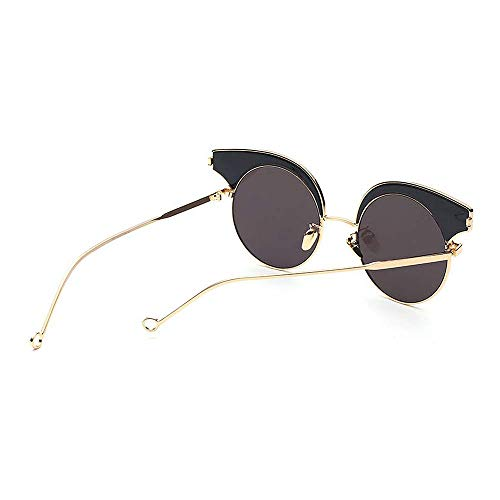 air Beach nouveauté pour Yeux Voyage Rimless Couleur Nuances Lunettes Brillants la la Plein Semi de UV Soleil KOMEISHO Summer en Conduite C4 C2 de Lady's Protection Designer Chat ZngR51qw