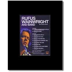 RUFUS WAINWRIGHT - UK Tour 2005 Mini Poster - 13.5x10cm