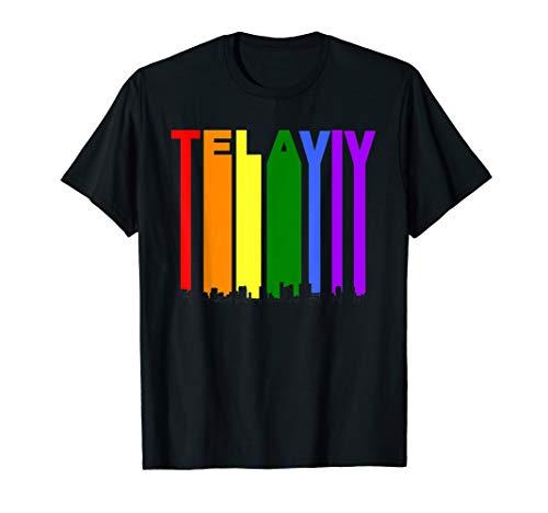 - Tel Aviv Israel Skyline Rainbow LGBT Gay Pride T-Shirt