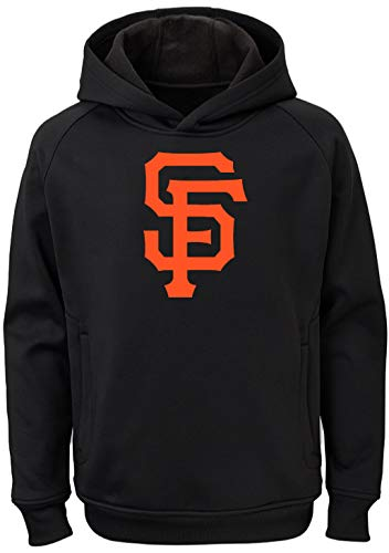 San Francisco Giants Pullover - Outerstuff MLB Youth 8-20 Team Color Polyester Performance Primary Logo Pullover Sweatshirt Hoodie (X-Large 18/20, San Francisco Giants)