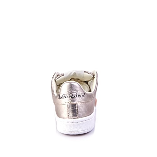 SNEAKERS CUORE DONNA PELLE CUORE PELLE PLATINO RAME