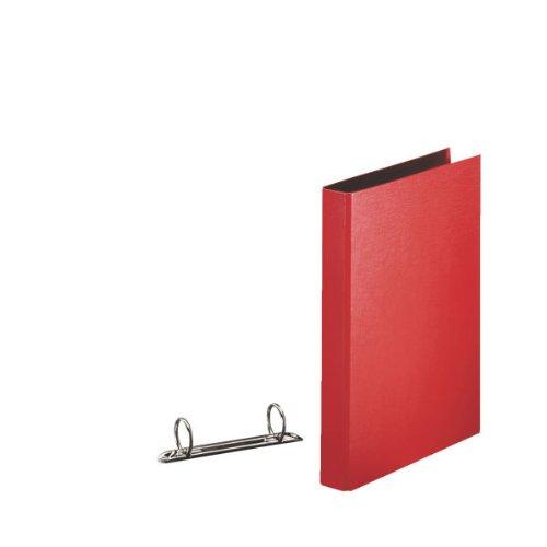 Esselte Raccoglitore a 2 anelli, Per archivio, Plastica, Formato A5, Dorso 3.5 cm, Rosso, Daily, 394773300