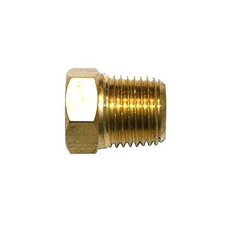 "FPP21B Brass Hex Plug 1//8/"" NPT Male"
