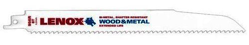 LENOX Tools Wood Cutting Reciprocating Saw Blade with Power Blast Technology, Bi-Metal, 9-inch, 6 TPI, 50/PK by Lenox