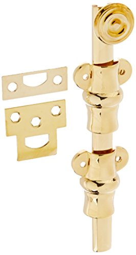 Baldwin 0380031 Surface Bolt, Unlacquered Bright (Baldwin Brass Screws)