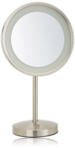 Jerdon HL1015NL 9.5-Inch LED Lighted Vanity Mirror with 5...