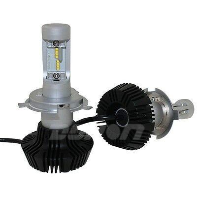 FidgetFidget LUMILEDS Philips LED Headlight Conversion Kit H4 4000lm hi/lo Beam 6500K 12v 24v