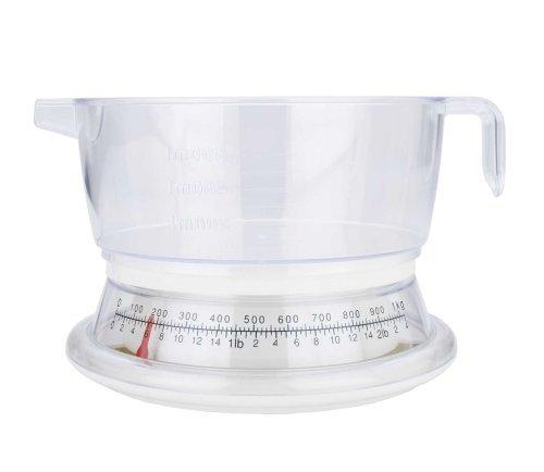 MIU France Plastic Analog Kitchen Scale, 2-Pounds (Renewed) ()