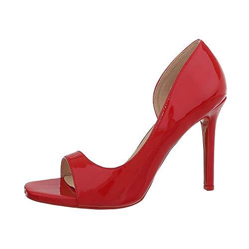 Escarpins Peep design Rot Femme G70273 Ital toe 4pAnxpa