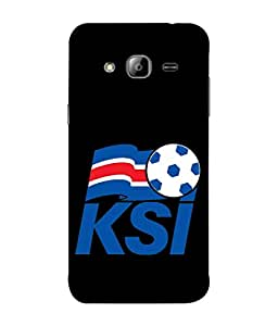 ColorKing Football Iceland 03 Black shell case cover for Samsung On7