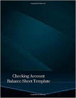 checking account balance sheet template bank transaction large book