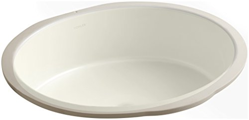 (KOHLER K-2881-96 Verticyl Oval Undercounter Bathroom Sink, Biscuit)