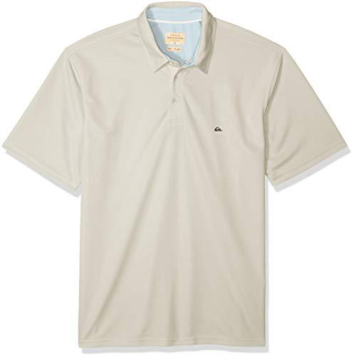 Quiksilver Waterman Men's Water 2 Polo Shirt, Lunar Rock, L (Lunar Rock)
