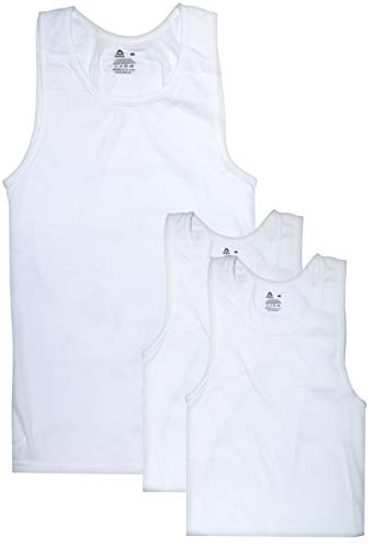 - Reebok Men's Classic A-Shirt Undershirt (3 Pack), White, Large
