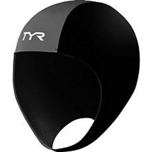 Cap Skull Neoprene - TYR 1THEL6AL Neoprene Swim Cap, Black, Large