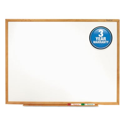 Classic Melamine Whiteboard, 96 x 48, Oak Finish Frame, Sold as 1 Each