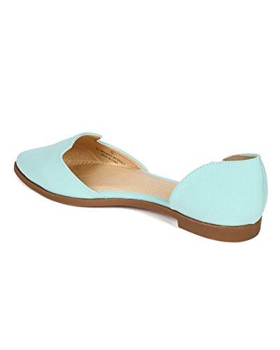 on Mint Slip Nubuck Flat Venetian CD78 Toe Liliana Women Loafer Pointy xTZwYXvyq