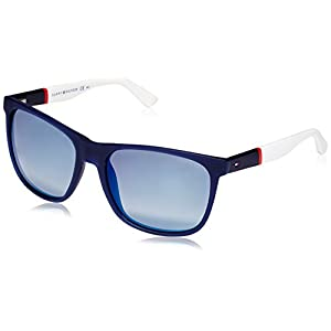 Tommy Hilfiger 1281/S FMC Blue/Red/White 1281/S Square Sunglasses Lens Cate