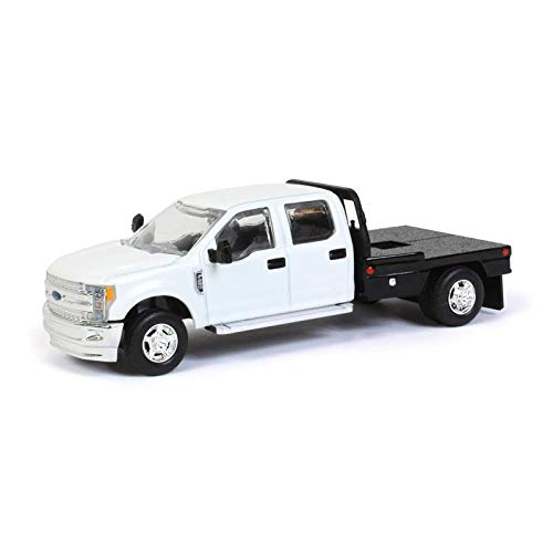 (Spec Cast 1/64 White Ford F-250 Pick-up with Flatbed 52602)