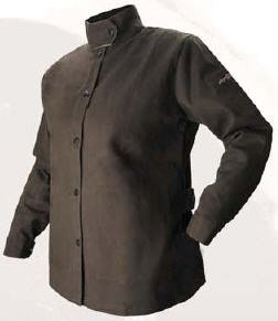 X-Small BSX AngelFire Women's Flame-Resistant Welding Jacket - Chocolate by Black Stallion