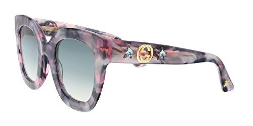 Gucci GG 0208S 004 Grey Havana Plastic Fashion Sunglasses Grey Gradient - Gucci Grey
