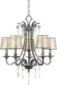 Quoizel KD5005MM Five Light Chandeliers, Large, Mottled Silver