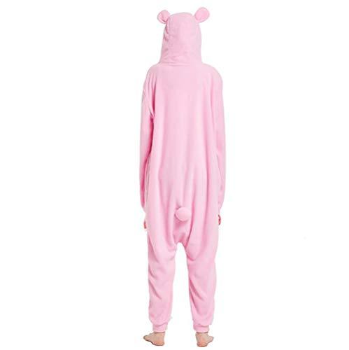 Onesie Pigiama Biancheria Notte Costume Per Unisex Orso XL Da Pink Adulto Donne Black Animale SHANGXIAN Kigurumi Uomini Halloween 4qUA5pWxw