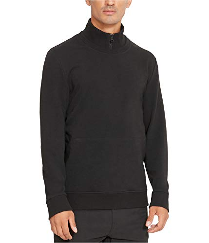 Kenneth Cole REACTION Half Zip Pouch Pocket Pullover Black