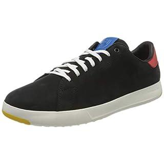 Cole Haan Men's Grandpro Tennis Sneaker Black Nubuck/Flame/Blue, 8.5 (UK)