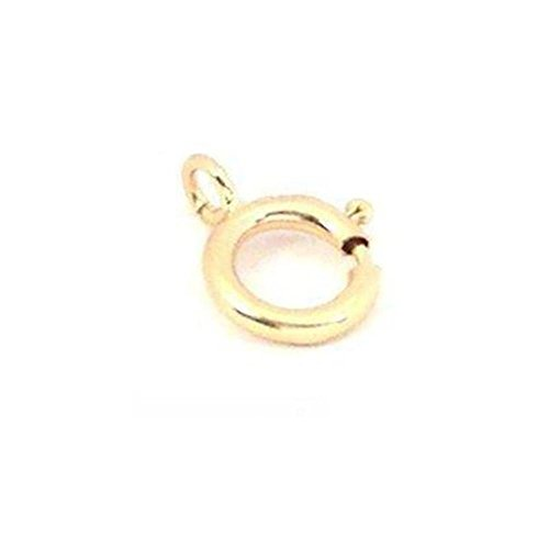 14K Gold Spring Ring Clasp Finding Necklace Part 6mm 14k Yellow Gold Spring Ring