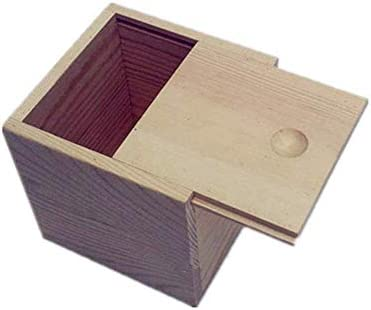 BZM-ZM あなたの油を維持するための木製のエッセンシャルオイルストレージボックスベスト安全なスペースセーバー(カラー:ナチュラル、サイズ:9X9X5CM)
