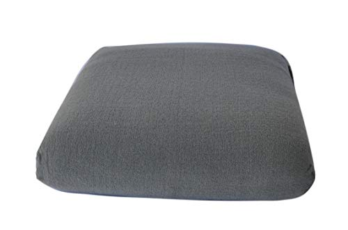 CushyChic Outdoors Terry Slipcover for Ottoman Cushion in Cool Medium Grey - Slipcover Only - Cushion Insert NOT Included (40 Cushions X Patio 20)