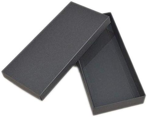 HOME+A - Caja de Regalo Grande con Tapa, Caja pequeña de cartón, Caja de jabón, Cajas de Papel para embalar, Color Blanco y Negro, Synthesis, Negro, 23x18x4cm: Amazon.es: Hogar