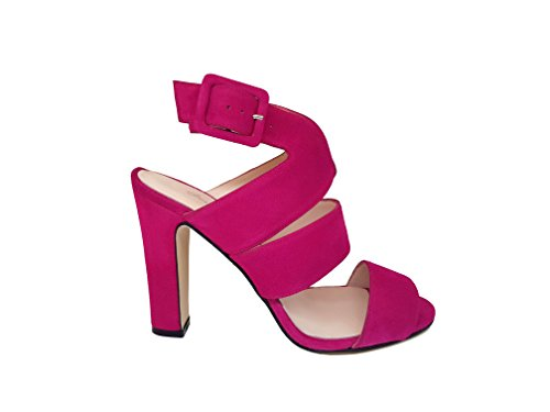 Leather Suede Pink Leather Boots Sandals GENNIA NEREA Ankle Carmesi Women´s qfI7A