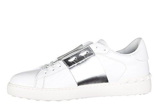 Valentino chaussures baskets sneakers homme en cuir blanc