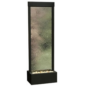 Bluworld Black Onyx Gardenfall w Clear Glass 8 Foot