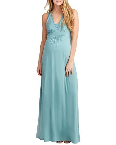 NOM Womens Hollis Maternity Maxi Dress, XL