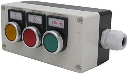 LA38-11BNGRY-Box Taiss Warranty 3 Years 22mm 10A 440V 1NO 1NC Red Yellow Green Sign Momentary Push Button Switch Pushbutton Switches Station