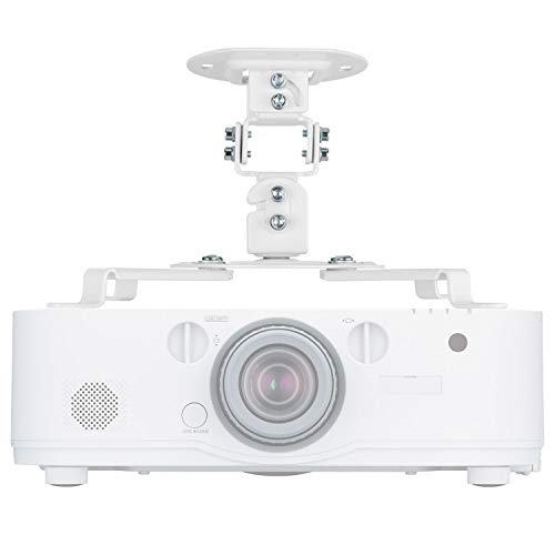 - Universal Projector Mount Bracket Low Profile Multiple Adjustment Ceiling , Hold up to 30 lbs. (PM-002-WHT), White