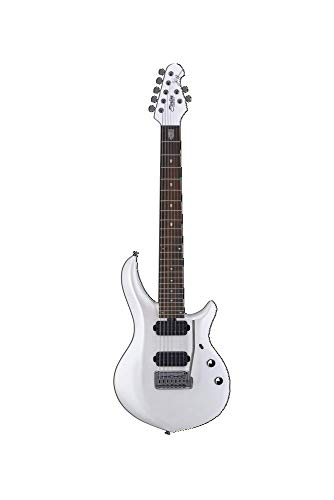 Sterling By MusicMan 7 String Solid-Body Electric Guitar, Right, Pearl White (MAJ170X-PWH)