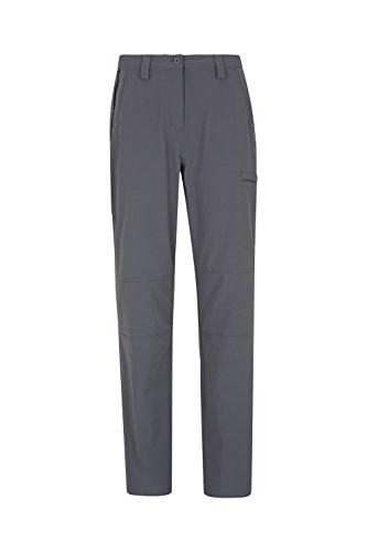 Mountain Warehouse Trek Stretch Womens Trousers - Ladies Summer Pants Charcoal 10