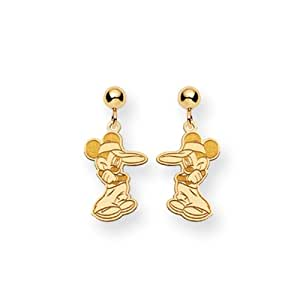 Disney's Mickey Mouse Post Earrings in 14 Karat Gold