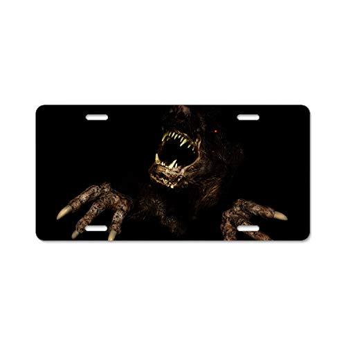 Khope Spooky Halloween Car License Plate Frame Slim Aluminum 12 × 6