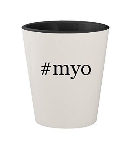 Rxp 2 Myo Headlamp - #myo - Ceramic Hashtag White Outer & Black Inner 1.5oz Shot Glass